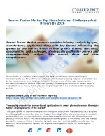 Sensor Fusion Market Top Manufactures, Challenges And Drivers By 2026
