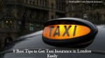 9 Best Tips to Get Taxi Insurance in London Easily