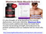 Maximum Male Muscle Building Supplement Where to Buy and Free Trial