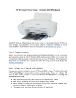 Easy Steps to Connect HP Deskjet 2652 Printer to WiFi Network