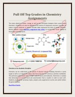 Book your First chemistry assignmet Online with essaycorp.