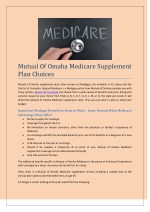 Mutual of Omaha Medicare Supplement Plan Choices | Odalizer.com