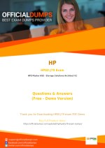 HPE0-J79 Exam Questions - Affordable HP HPE0-J79 Exam Dumps - 100% Passing Guarantee