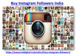Get the best buy instagram followers india
