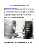 Fix QuickBooks Error Code 6150
