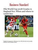 Fifa World Cup 2018 Croatia vs England live: When and where to watch free
