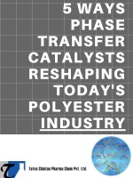 Phase Transfer Catalysts Are Reshaping Today's Polyester Industry, Understand How!