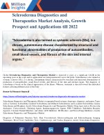 Scleroderma Diagnostics and Therapeutics Market Analysis, Growth Prospect and Applications till 2022
