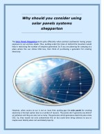 Why Should You Consider Using Solar Panels Systems Shepparton