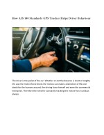 How AIS 140 Standards GPS Tracker Helps Driver Behavior