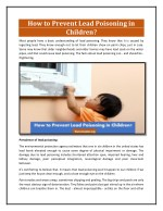 How to Prevent Lead Poisoning in Children