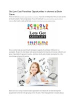 Education Franchise Business Opportunities, Low Cost Franchise Opportunities in chennai