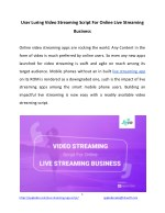 User Luring Video Streaming Script For Online Live Streaming Business