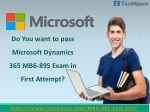 Microsoft Dynamics 365 MB6-895 Practice Test Questions Answers