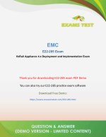 Pass Dell EMC E22-285 VCE Exam PDF 2018 - [DOWNLOAD and Prepare]