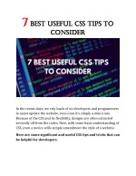 7 Best Useful CSS Tips To Consider
