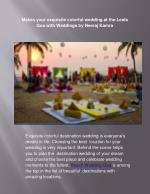 Goa Wedding Planners - Weddings by Neeraj Kamra