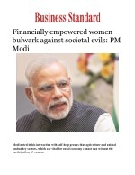 Financially empowered women bulwark against societal evils: PM Modi