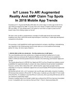 IoT Loses To AR! Augmented Reality And AMP Claim Top Spots In 2018 Mobile App Trends