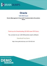 100% Passing Guarantee With Latest Oracle 1Z0-500 Exam Braindumps