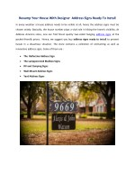 Revamp Your House With Designer  Address Signs Ready To Install