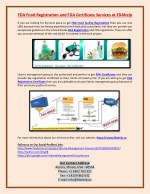 FDA Food Registration and FDA Certificate Services at FDAhelp