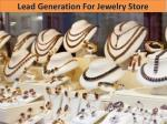 Lead Generation For Jewelry Store