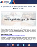 O-Xylene Market Analysis, Applications and Growth Rate Forecast To 2022