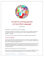 10 Tips for Learning Spanish