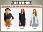 Search the best online shopping sites for women's fashion