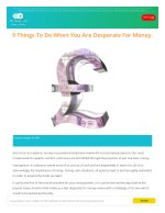 9 Things To Do When You Are Desperate For Money.