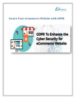 Secure Your eCommerce Website with GDPR