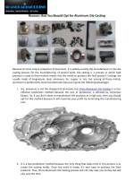 Reasons that You Should Opt for Aluminum Die Casting
