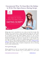 Uncontested Way To Earn Best On Online Is With The Open Source Dating Script