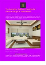 The Complete Guide on Residential Interior Design in Ahmedabad
