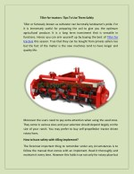 Tiller For Tractors: Tips To Use Them Safely
