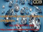 Lead Generation For Jewelry Designers