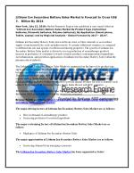 Lithium Ion Secondary Battery Sales Market is Forecast to Cross US$ 2.7 Billion By 2024