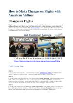 American Airlines Book Flight 1-888-344-2183 tickets