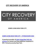 Find Best Sober Living at Cityrecovery.com