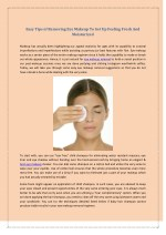 Eye Makeup - Easy Tips of Removing Eye Makeup To Get Up Feeling Fresh And Moisturized