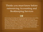 Thinks you must know before outsourcing Accounting and Bookkeeping Services