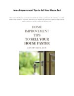 Home Improvement Tips to Sell Your House Fast - Advantageu