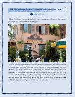 Are You Ready to Sell Your Home and Move to Puerto Vallarta?