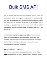 Best Bulk SMS API For Your Company