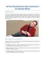 All You Should Know About Dystonia - Dr. Shivam Mittal