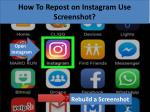 How to Repost on Instagram Use Screenshot?