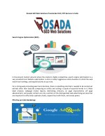 Rosada SEO Web Solutions Provide Best SEO, PPC Services in India
