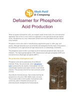 Defoamer for phosphoric acid production