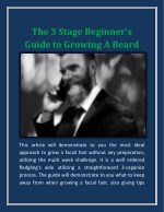 The 3 Stage Beginner's Guide To Growing A Beard